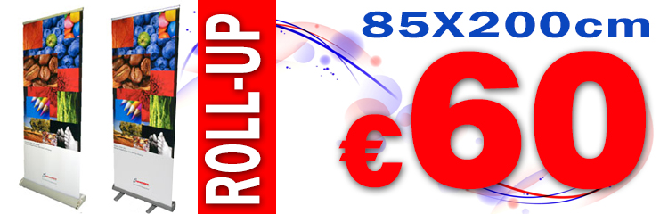 Roll-up 85x200cm 60 euro